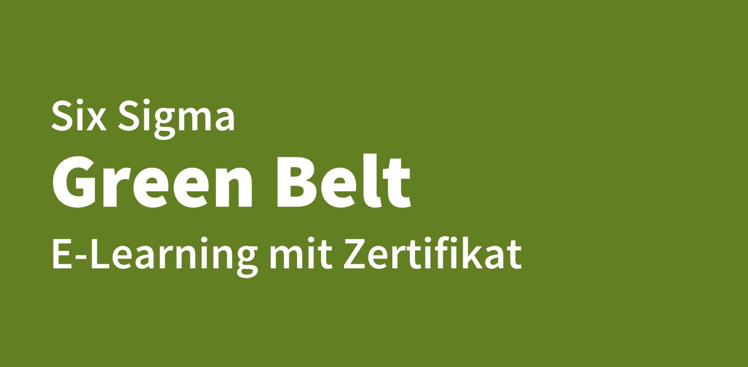 Online Kurs Six Sigma Green Belt im E-Learning
