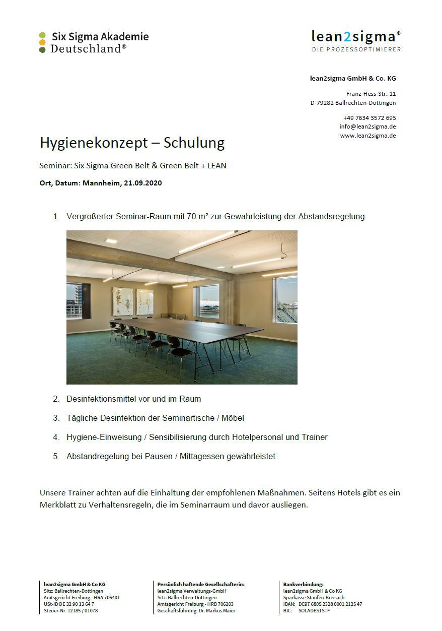Hygienekonzept Mannheim