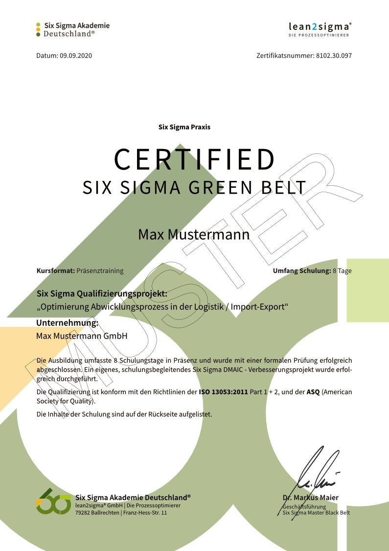Zertifikat-Certified-Six-Sigma-Green-Belt