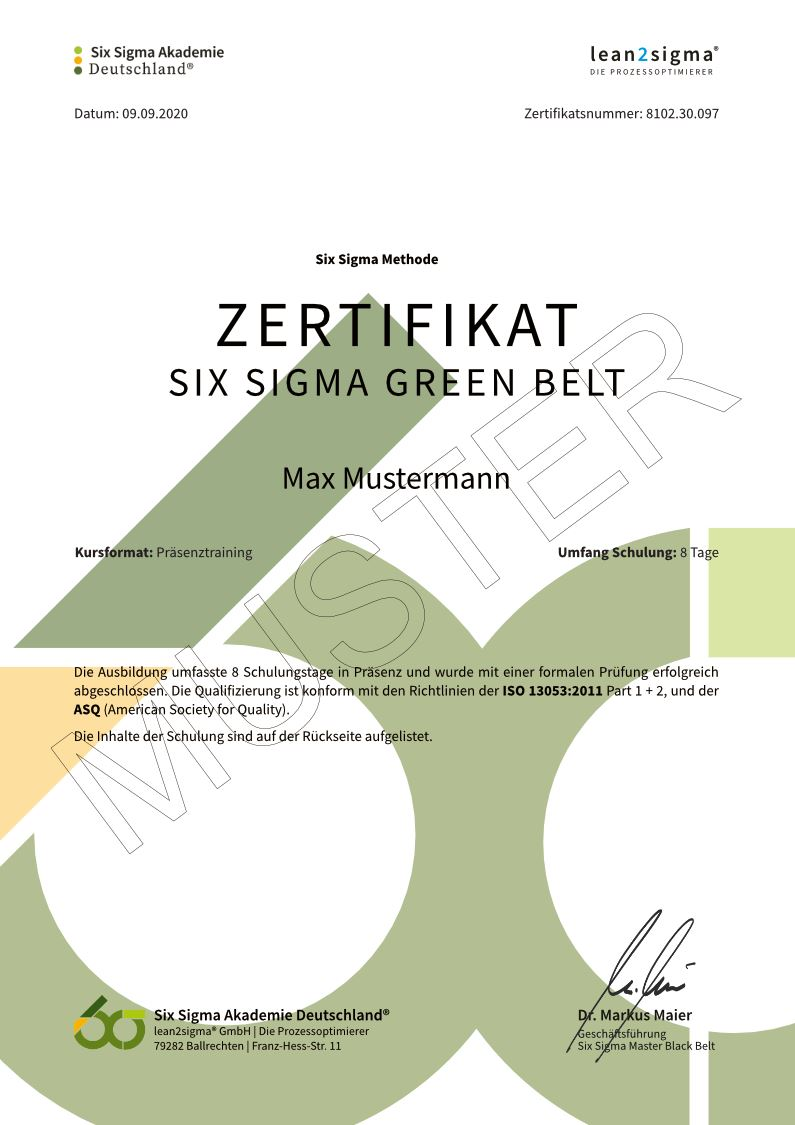 Zertifikat-Six-Sigma-Green-Belt